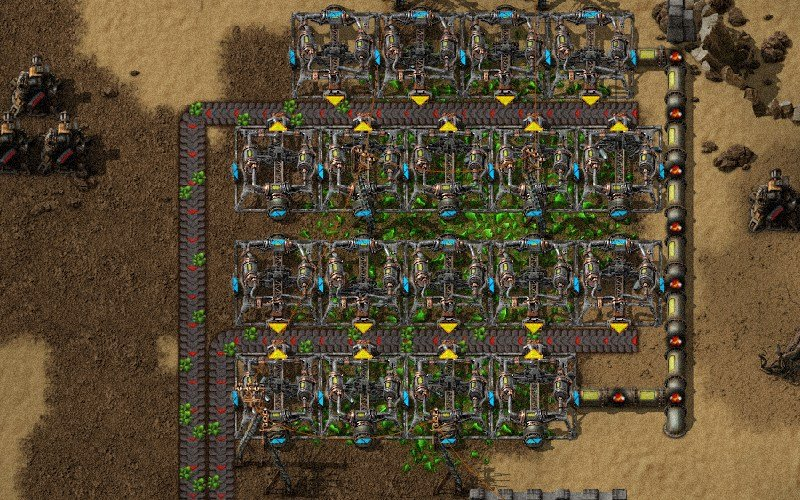 Factorio Nuclear power - Uranium, reactor and connection