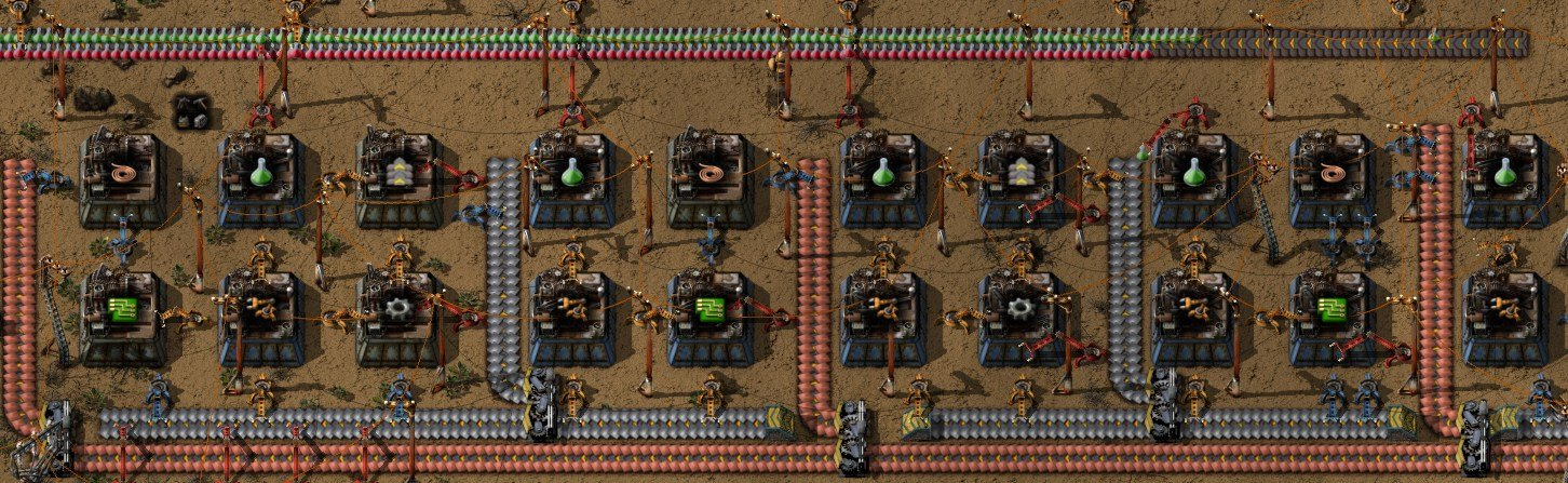 factorio green and red science layout