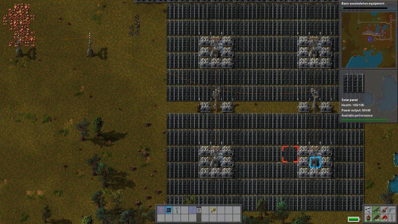 factorio solar layout
