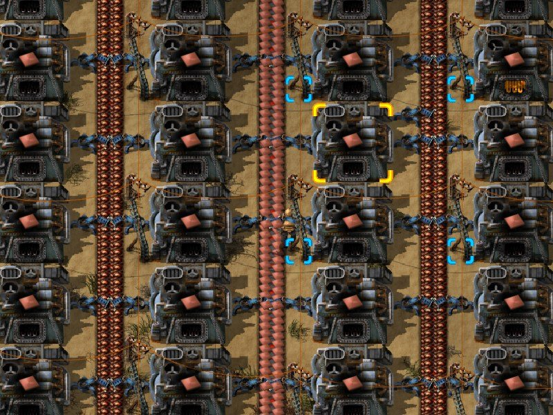 factorio furnace layout
